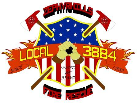 Zephyrhills Local 3884 Fire Rescue Logo