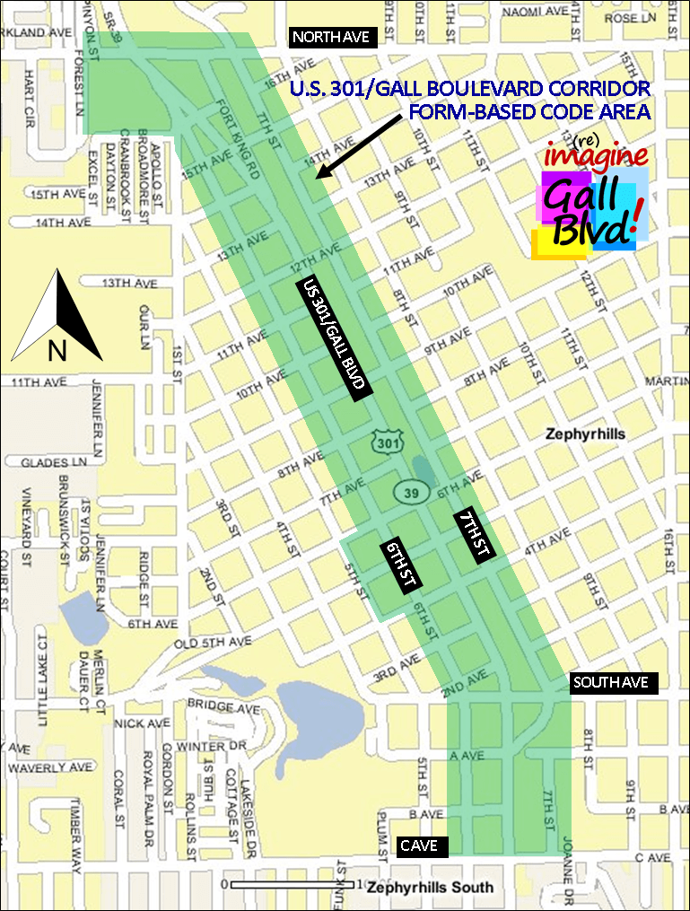 Map of the Gall Boulevard Project